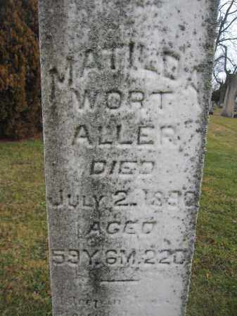 ALLER, MATILDA WORT - Union County, Ohio | MATILDA WORT ALLER - Ohio Gravestone Photos