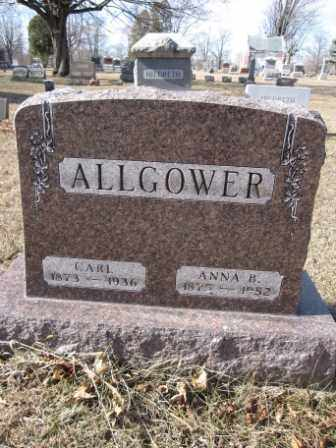 ALLGOWER, CARL - Union County, Ohio | CARL ALLGOWER - Ohio Gravestone Photos