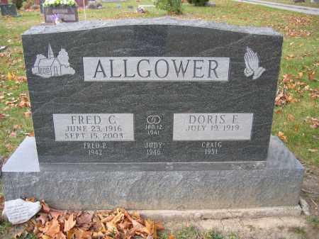 ALLGOWER, FRED C. - Union County, Ohio | FRED C. ALLGOWER - Ohio Gravestone Photos