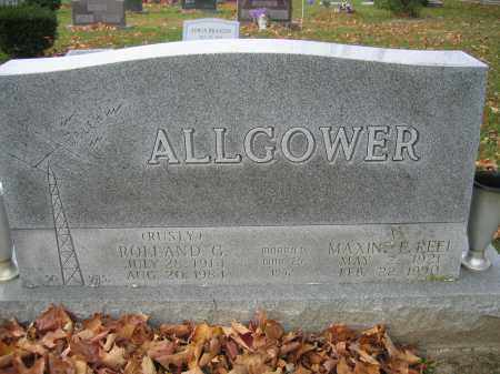 ALLGOWER, MAXINE E. REEL - Union County, Ohio | MAXINE E. REEL ALLGOWER - Ohio Gravestone Photos