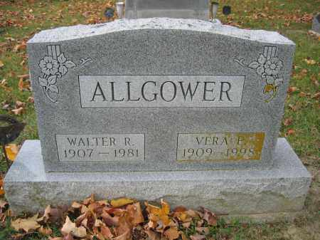 ALLGOWER, WALTER R. - Union County, Ohio | WALTER R. ALLGOWER - Ohio Gravestone Photos