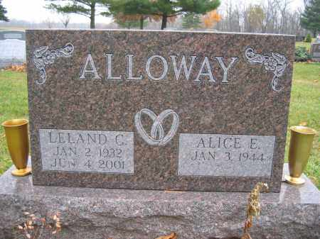 ALLOWAY, ALICE E. - Union County, Ohio | ALICE E. ALLOWAY - Ohio Gravestone Photos