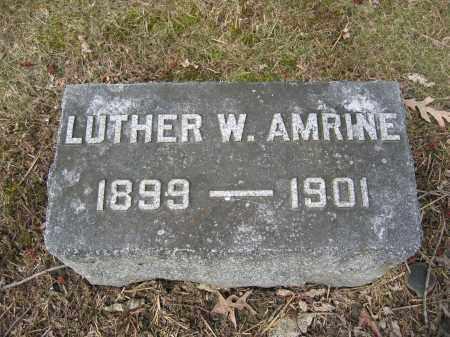 AMRINE, LUTHER W. - Union County, Ohio | LUTHER W. AMRINE - Ohio Gravestone Photos