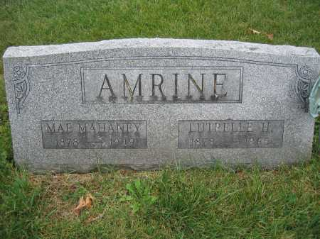 AMRINE, MAE MAHANEY - Union County, Ohio | MAE MAHANEY AMRINE - Ohio Gravestone Photos
