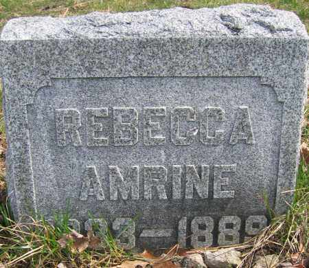 AMRINE, REBECCA - Union County, Ohio | REBECCA AMRINE - Ohio Gravestone Photos