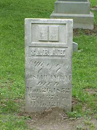 AMRINE, SARAH - Union County, Ohio | SARAH AMRINE - Ohio Gravestone Photos