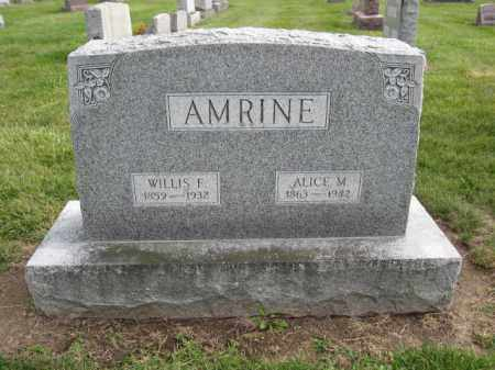 AMRINE, WILLIS F. - Union County, Ohio | WILLIS F. AMRINE - Ohio Gravestone Photos