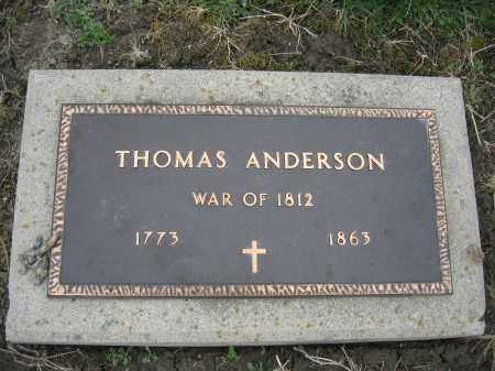 ANDERSON, THOMAS - Union County, Ohio | THOMAS ANDERSON - Ohio Gravestone Photos