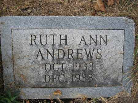 ANDREWS, RUTH ANN - Union County, Ohio | RUTH ANN ANDREWS - Ohio Gravestone Photos