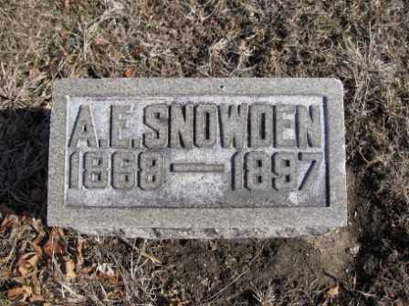 SNOWDEN, A.E. - Union County, Ohio | A.E. SNOWDEN - Ohio Gravestone Photos