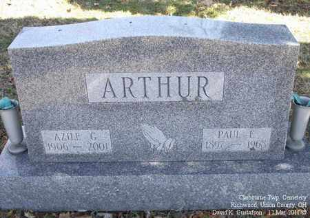 ARTHUR, PAUL - Union County, Ohio | PAUL ARTHUR - Ohio Gravestone Photos