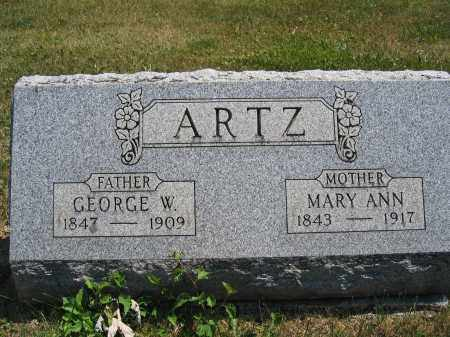 ARTZ, GEORGE W. - Union County, Ohio | GEORGE W. ARTZ - Ohio Gravestone Photos