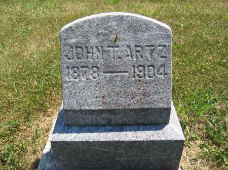 ARTZ, JOHN T. - Union County, Ohio | JOHN T. ARTZ - Ohio Gravestone Photos
