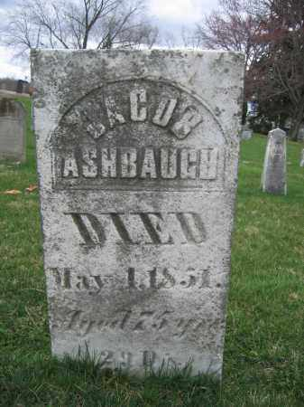 ASHBAUGH, JACOB - Union County, Ohio | JACOB ASHBAUGH - Ohio Gravestone Photos