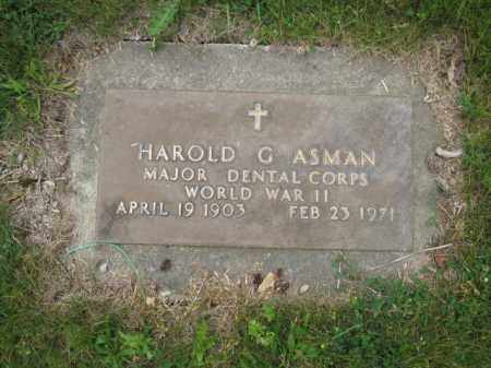ASMAN, HAROLD G. - Union County, Ohio | HAROLD G. ASMAN - Ohio Gravestone Photos