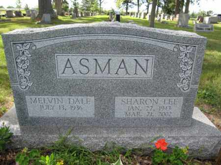 ASMAN, SHARON LEE - Union County, Ohio | SHARON LEE ASMAN - Ohio Gravestone Photos