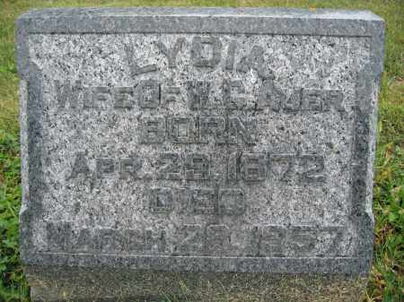 AUER, LYDIA - Union County, Ohio | LYDIA AUER - Ohio Gravestone Photos
