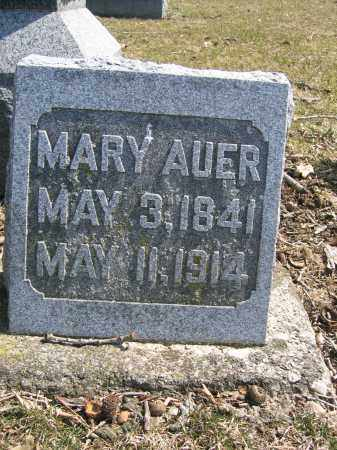 AUER, MARY - Union County, Ohio | MARY AUER - Ohio Gravestone Photos