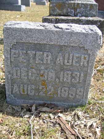 AUER, PETER - Union County, Ohio | PETER AUER - Ohio Gravestone Photos