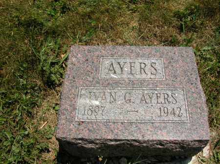 AYERS, IVAN G. - Union County, Ohio | IVAN G. AYERS - Ohio Gravestone Photos