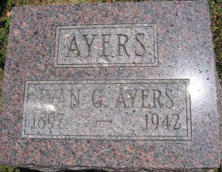 AYERS, IVAN G. - Union County, Ohio | IVAN G. AYERS - Ohio Gravestone Photos