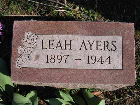 AYERS, LEAH - Union County, Ohio | LEAH AYERS - Ohio Gravestone Photos