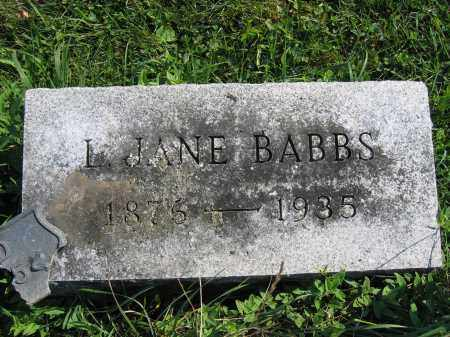 BABBS, L. JANE - Union County, Ohio | L. JANE BABBS - Ohio Gravestone Photos