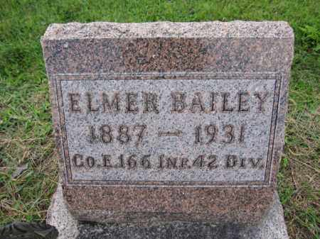 BAILEY, ELMER - Union County, Ohio | ELMER BAILEY - Ohio Gravestone Photos