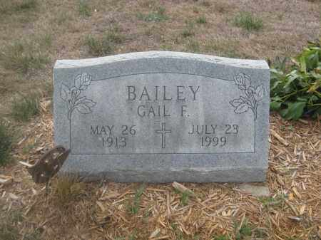 BAILEY, GAIL F. - Union County, Ohio | GAIL F. BAILEY - Ohio Gravestone Photos