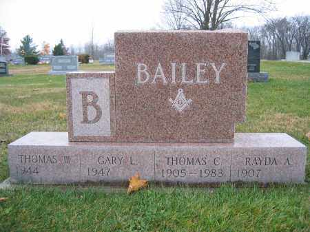 BAILEY, III, THOMAS - Union County, Ohio | THOMAS BAILEY, III - Ohio Gravestone Photos