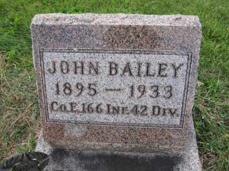 BAILEY, JOHN - Union County, Ohio | JOHN BAILEY - Ohio Gravestone Photos