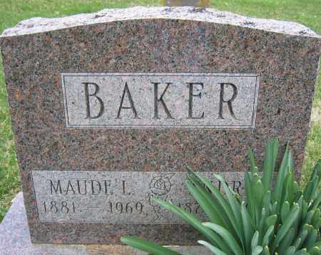 BAKER, MAUDE L. - Union County, Ohio | MAUDE L. BAKER - Ohio Gravestone Photos
