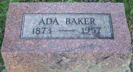 BAKER, ADA - Union County, Ohio | ADA BAKER - Ohio Gravestone Photos