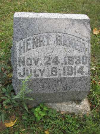 BAKER, HENRY - Union County, Ohio | HENRY BAKER - Ohio Gravestone Photos