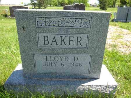 BAKER, LLOYD D. - Union County, Ohio | LLOYD D. BAKER - Ohio Gravestone Photos