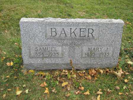 BAKER, MARY J. - Union County, Ohio | MARY J. BAKER - Ohio Gravestone Photos