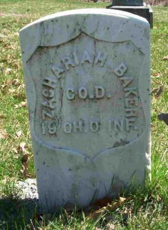 BAKER, ZACHARIAH - Union County, Ohio | ZACHARIAH BAKER - Ohio Gravestone Photos