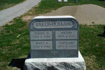 BAKER, ZEBBIE D. - Union County, Ohio | ZEBBIE D. BAKER - Ohio Gravestone Photos