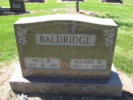BALDRIDGE, PAUL W. - Union County, Ohio | PAUL W. BALDRIDGE - Ohio Gravestone Photos
