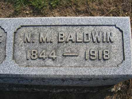 BALDWIN, NATHAN M. - Union County, Ohio | NATHAN M. BALDWIN - Ohio Gravestone Photos