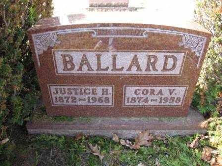 BALLARD, JUSTICE H. - Union County, Ohio | JUSTICE H. BALLARD - Ohio Gravestone Photos