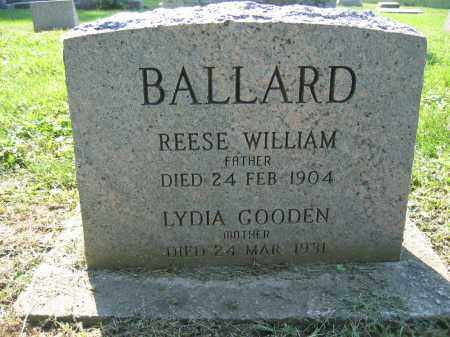 BALLARD, REESE WILLIAM - Union County, Ohio | REESE WILLIAM BALLARD - Ohio Gravestone Photos