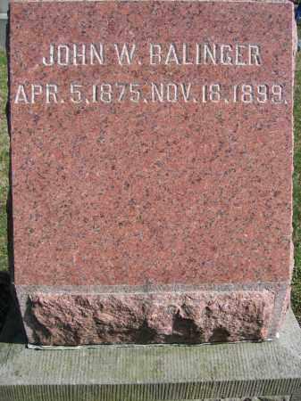 BALLINGER, JOHN W. - Union County, Ohio | JOHN W. BALLINGER - Ohio Gravestone Photos