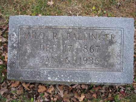 BALLINGER, MILO R. - Union County, Ohio | MILO R. BALLINGER - Ohio Gravestone Photos