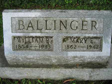 BALLINGER, MARY E. - Union County, Ohio | MARY E. BALLINGER - Ohio Gravestone Photos