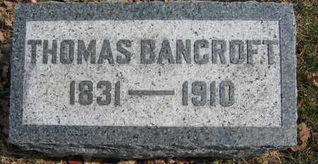 BANCROFT, THOMAS - Union County, Ohio | THOMAS BANCROFT - Ohio Gravestone Photos