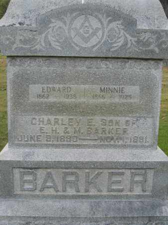 BARKER, MINNIE - Union County, Ohio | MINNIE BARKER - Ohio Gravestone Photos