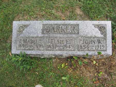 BARKER, ELSIE E. - Union County, Ohio | ELSIE E. BARKER - Ohio Gravestone Photos