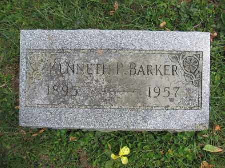 BARKER, KENNETH P. - Union County, Ohio | KENNETH P. BARKER - Ohio Gravestone Photos