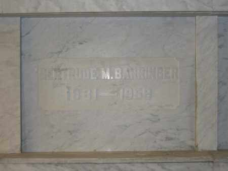 BARRINGER, GERTRUDE M. - Union County, Ohio | GERTRUDE M. BARRINGER - Ohio Gravestone Photos